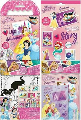 Disney Princess Childrens Kids Character Activity Colouring Books Crayons Pencil