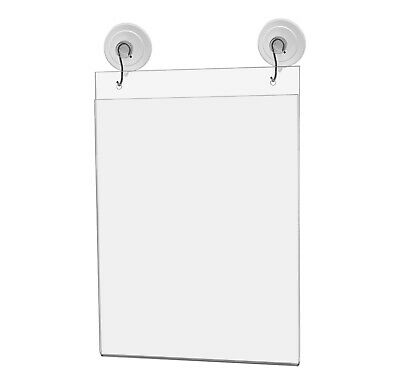 "Ad Frame Sign Holder Wall Mount 8""W x 10""H with Hooks and Suction Cups"