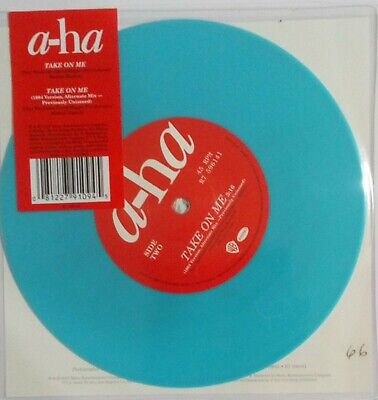 "A-Ha - Take On Me - Ultra Limited Blue Vinyl 7"". Special Edition. New. Sealed."