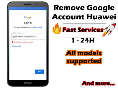 Remove google account/FRP lock HUAWEI all models supported Fast services