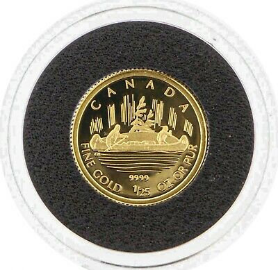 2005 Canada 50 Cents 1/25th .9999 Fine Gold Coin - Voyageur Royal Canadian Mint