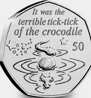 Isle Of Man Coin 50p 2019 Commemorative Peter Pan Crocodile New UNC f/ Seal Bags