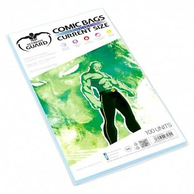 Ultimate Guard RESEALABLE Current Size Comic Bags Sleeves 100ct 175 x 268mm