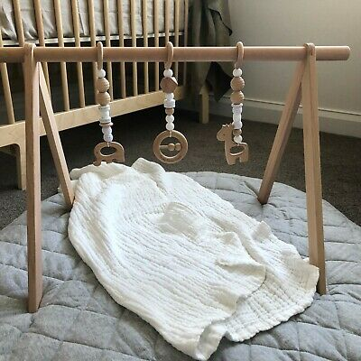 Wooden Baby Play Gym Activity Gym Frame Kids Room Decor - As New Condition