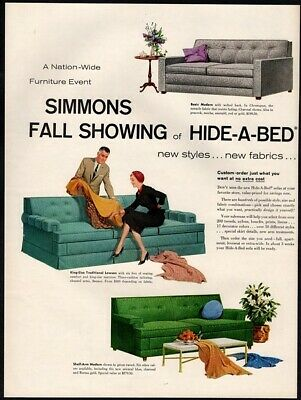 Terrific 1966 Simmons Hide A Bed Sofa Vintage Print Ad Furniture Home Creativecarmelina Interior Chair Design Creativecarmelinacom