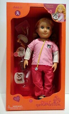 """Our Generation, This Is Our Story, Anais, Veterinarian, 18"""" Doll, NIB, NRFB"""