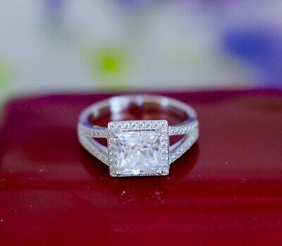 Vintage Jewellery Ring with White Sapphires Antique Art Deco Jewelry R 9