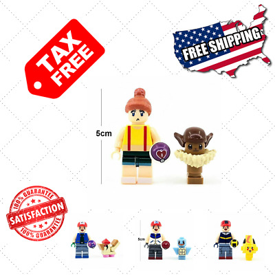16 piezas Pokemon Pikachu Charmander Bulbasaur pokeball Minifigure Block...