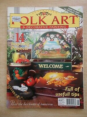 Folk Art & Decorative Painting Vol 10 #6~Roses~Star~Welcome~Teddies~Wrens~Peace