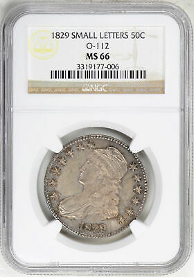 1829 Capped Bust 50C Ngc Ms 66