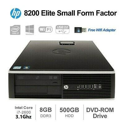 Desktop PC HP Elite 8200 SFF Intel Core i5-2400 3.1GHz 4GB 250GB HDD Win10