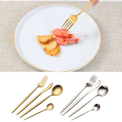4pcs Cutlery Set Stainless Steel Spoon Fork Tableware Dining Knives Dinner Party