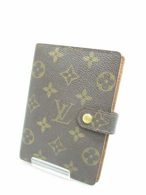 Louis Vuitton Monogram Agenda MM Day Planner Notebook Cover R20004 LV Used