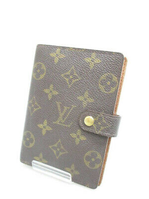 Louis Vuitton Monogram Agenda MM Day Planner Notebook Cover Case R20004 LV Used