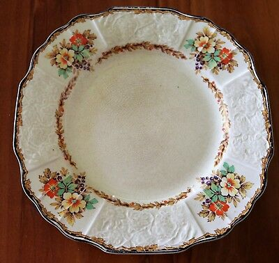 """""""Myott Staffordshire Dinner Plate"""" , C1925 , Excellent Aged Condition !"""