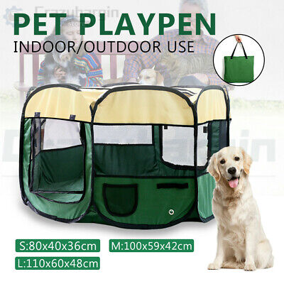 8 Panel Pet Dog Play Pen Fence Exercise Enclosure Crate Puppy Playpen Tent Cage