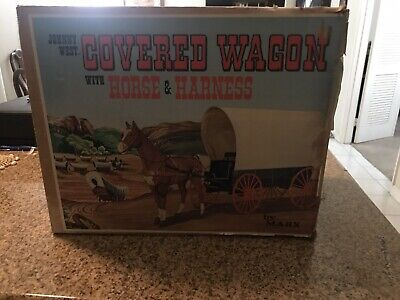 Vintage Marx Johnny West Adventures Covered Wagon