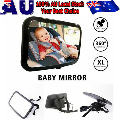Baby Car Seat Mirror Child Safety Back Rear View Easily Adjustable Large Wide AU