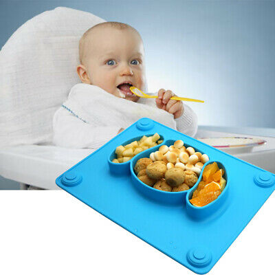 Baby Placemat Foldable Easy Clean Puppy Shape Suction Child Feeding Cute