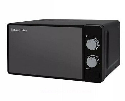 Russell Hobbs Colours Plus+ RHMM703B Jet Black Compact Microwave
