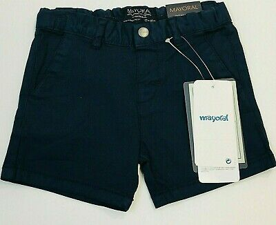 NWT Mayoral Baby Boys Sizes 6 & 12 months Navy Blue Chino Shorts #207