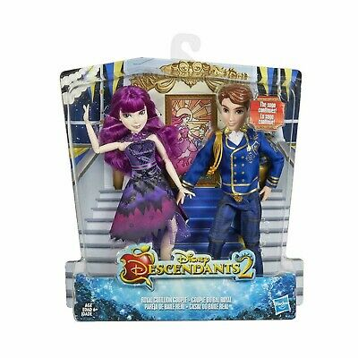 Disney Descendants 2 Royal Cotillion Couple Mal and King Ben of Auradon Set 11""