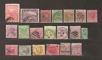 ASSEMBLAGE of 20 QUEEN VICTORIA EMPIRE & COMMONWEALTH STAMPS GOOD USED