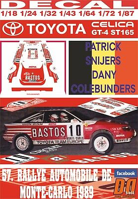 01 DECAL TOYOTA CELICA GT-4 ST165 R.VERREYDT YPRES 24 HOURS R 1989 DnF