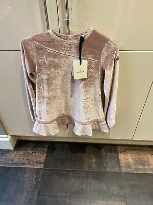 Girls Pink Velour Moncler Tracksuit New Age 14