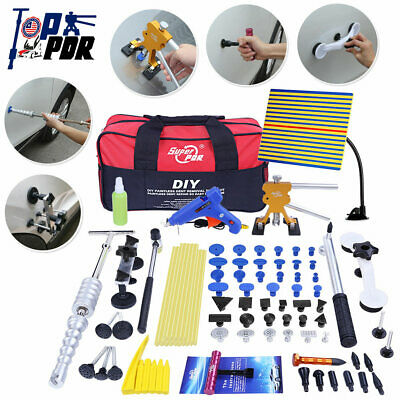 80pcs Car Dent Paintless Repair Tools PDR Puller Lifter Slide Hammer Removal Kit