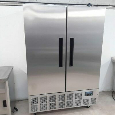 Commercial Fridge Double Door Upright Chiller Stainless Polar GD879