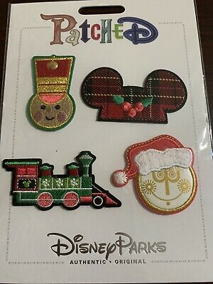 New Disney Parks Adhesive Christmas 2019 Small World Patch Set