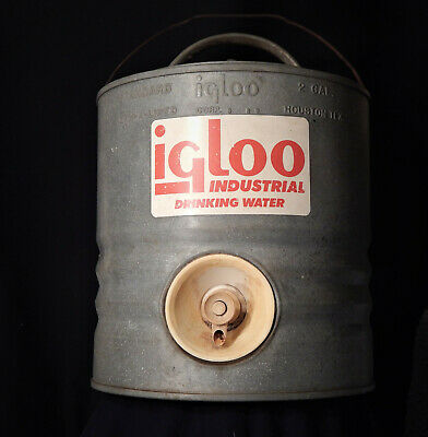 Vintage Igloo 2 Gallon Heavy Duty Galvanized Water Cooler Perm-a-Lined