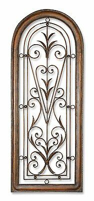 """Cristy Xxl 50"""" Farmhouse Architectural Decor Arched Forged Metal Wall Art"""