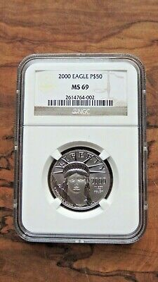 2000 1/2 oz Platinum Eagle $50 NGC MS69 Statue of Liberty 50 dollars