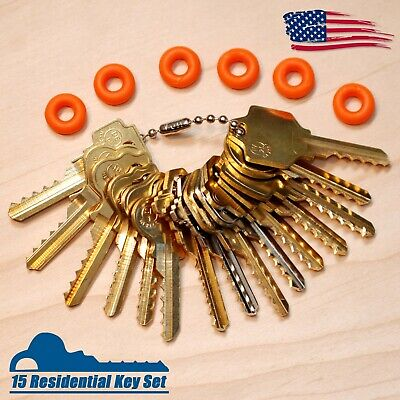15 Residential Depth Key Set with Bump Rings, Offset Cuts