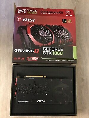 MSI GeForce GTX 1060 Gaming X 6g 6144 MB Gddr5