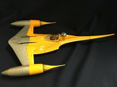 1998 Hasbro 20 inch Star Wars Naboo Star Fighter N-1 Ship Phantom Menace Works