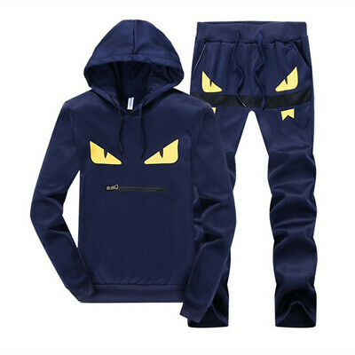 FENDI Monster Eyes Men's Tracksuit Set Hoodie Fashin Coat Jackets TrackSuit