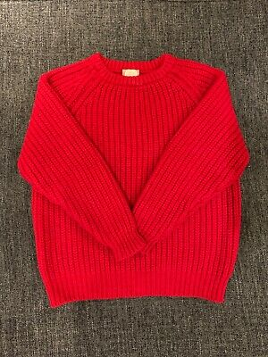 Vintage Red Cornish Chunky Wool Jumper