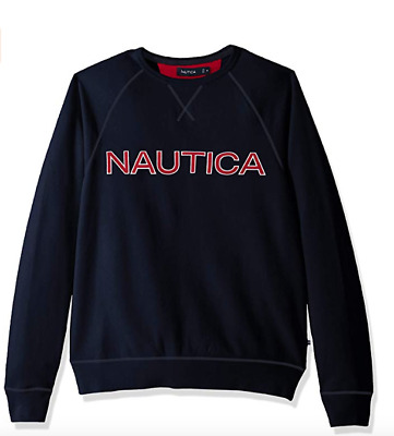 Nautica Long Sleeve Solid French Rib Crew Neck Sweatshirt Variety