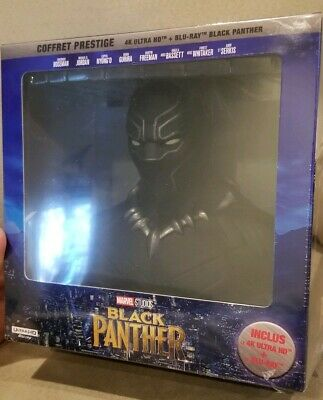 Marvel's Black Panther France Exclusive 4K Uhd Bluray Collectors Set With Bust