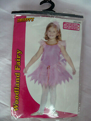 Smiffys Woodland Fairy Costume Forest Leaf Nymph Fancy Dress Outfit M 6-8 years