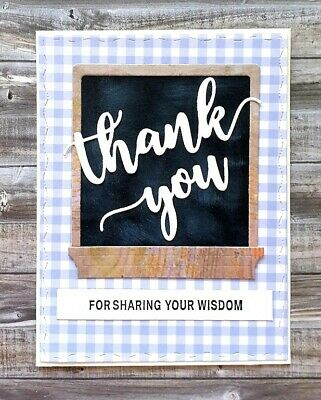 Handmade Teacher Card Thank You for Sharing Your Wisdom From Student School