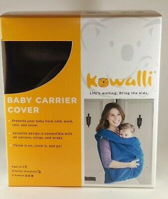 Kowalli Fleece Baby Carrier Cover and Keep Baby Worm from the Cold Navy