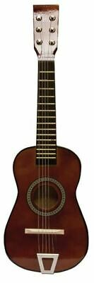 Dark Brown Fun Factory Acoustic Toy Guitar 23 Inches Children's Kids  w/ extras