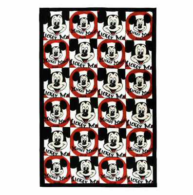 "DIsney Parks Mickey Mouse Club Throw Blanket 60"" X 40"" (Red, White, Black)"
