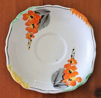 """""""J & G Meakin Sol Saucer"""" C1920 , Hand Painted Pattern Extremely Nice !"""