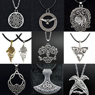 Medieval Nordic Amulet Necklace Viking Pendant Norse Talisman Viking Men Jewelry