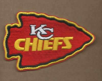 New 2 5/8 X 4 Inch Kansas City Chiefs Iron On Patch Free Shipping P1